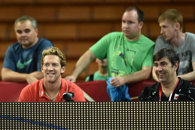 Stephane Antiga (z lewej) i Philippe Blain /Maciej Kulczyński /PAP