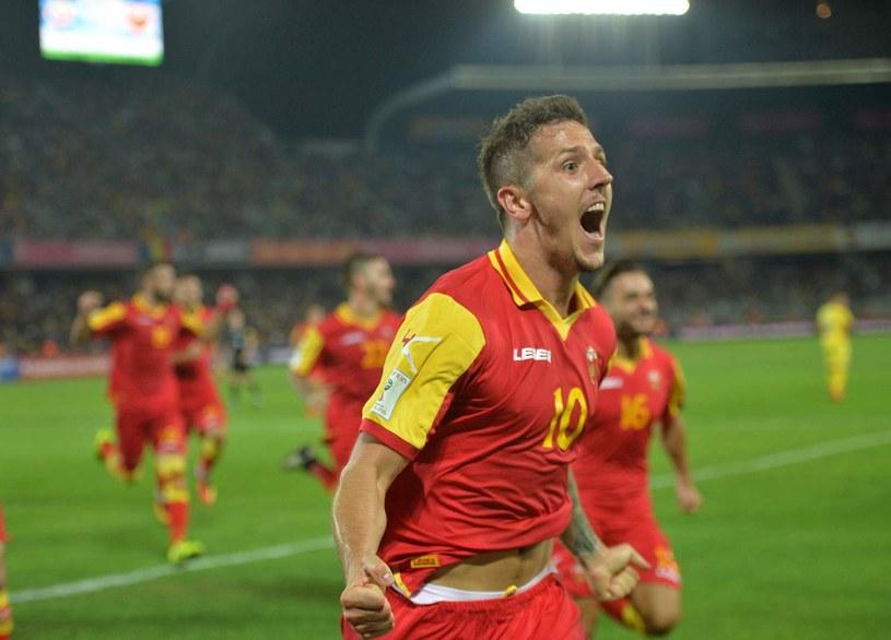 Stevan Jovetić był liderem czarnogórskiej drużyny w Astanie. Zaliczył piękną asystę przy pierwszym golu /AFP