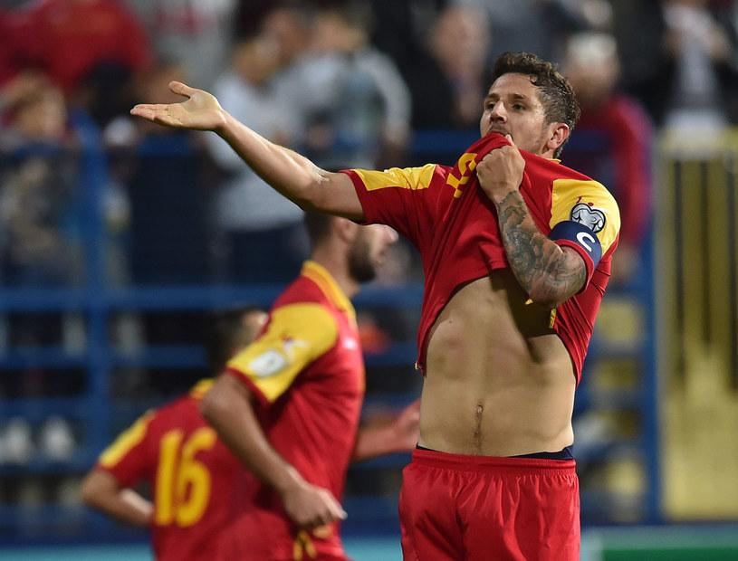 Stevan Jovetić z reprezentacji Czarnogóry /Giuseppe Bellini /Getty Images