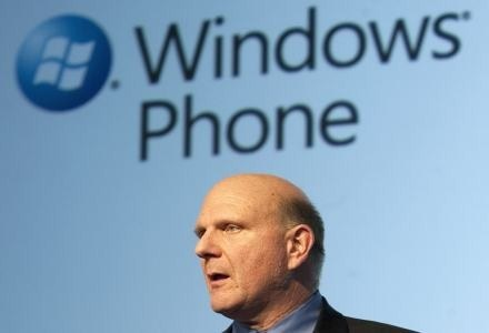 Steve Ballmer o Windows Phone /AFP