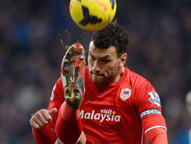 Steven Caulker (tu jeszcze w barwach Cardiff City) /AFP