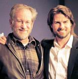 Steven Spielberg i Tom Cruise /