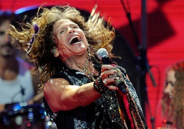 Steven Tyler (Aerosmith) jeszcze z kompletnym uzębieniem fot. Ethan Miller /Getty Images/Flash Press Media