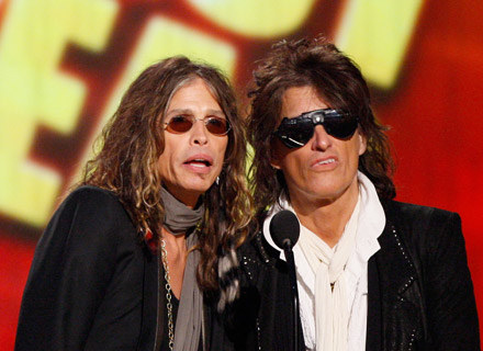 Steven Tyler i Joe Perry (Aerosmith) - fot. Vince Bucci /Getty Images/Flash Press Media