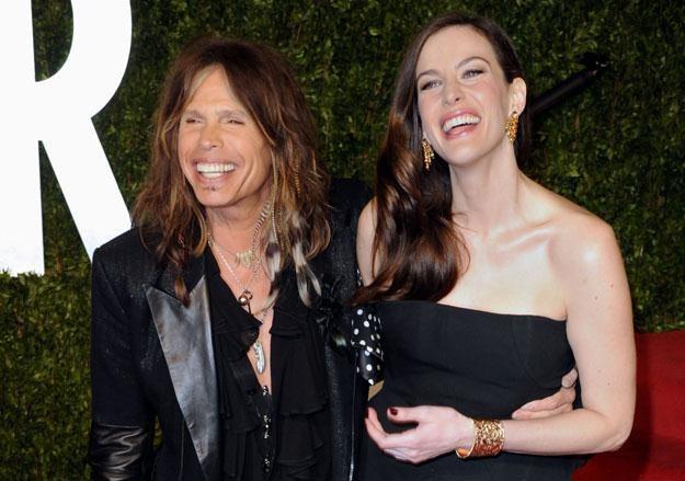 "Steven Tyler z córką: ""Fajna koszula, tato"" /arch. AFP"