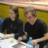 Steven Wilson i Richard Barbieri (Porcupine Tree) rozdają autografy w Krakowie /INTERIA.PL