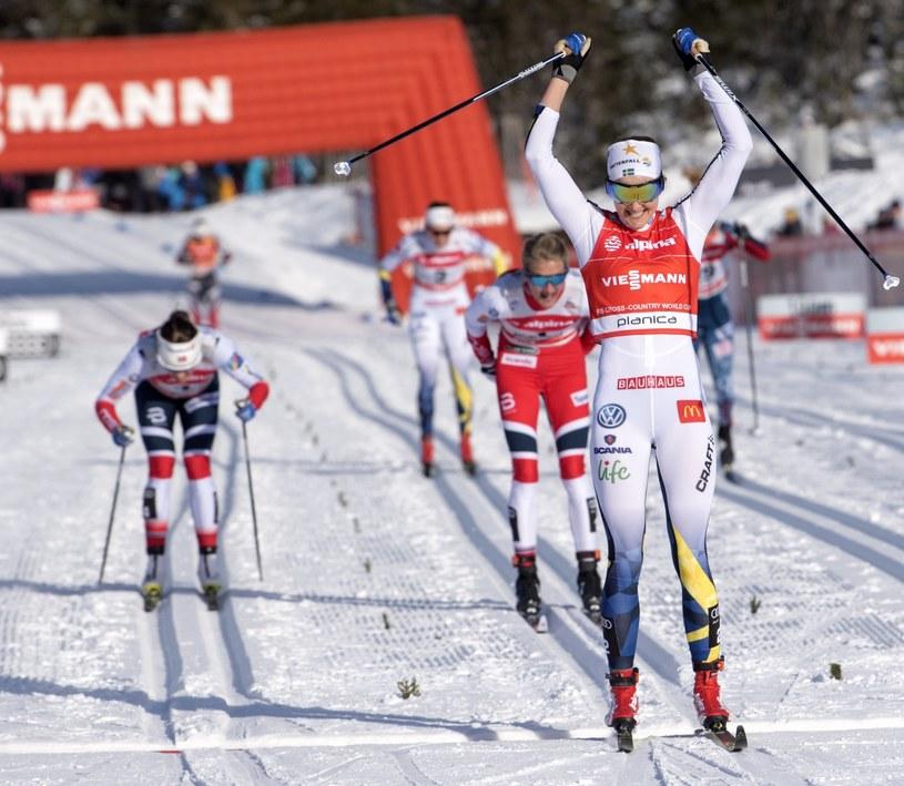 Stina Nilsson wygrywa w Planicy /PAP/EPA