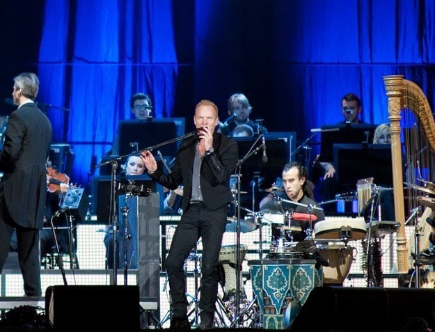 Sting podczas koncertu w Poznaniu /fot. Bartosz Nowicki
