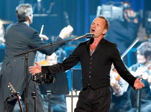 """Sting ruszył w świat z projektem """"Symphonicities"""". We wrześniu zawita do Poznania - fot. E. Miller /Getty Images/Flash Press Media"""