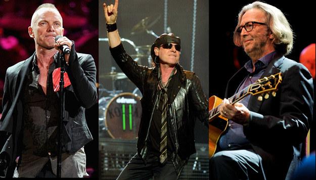 Sting, Scorpions i Eric Clapton stosują się do zasady inżyniera Mamonia /Getty Images/Flash Press Media