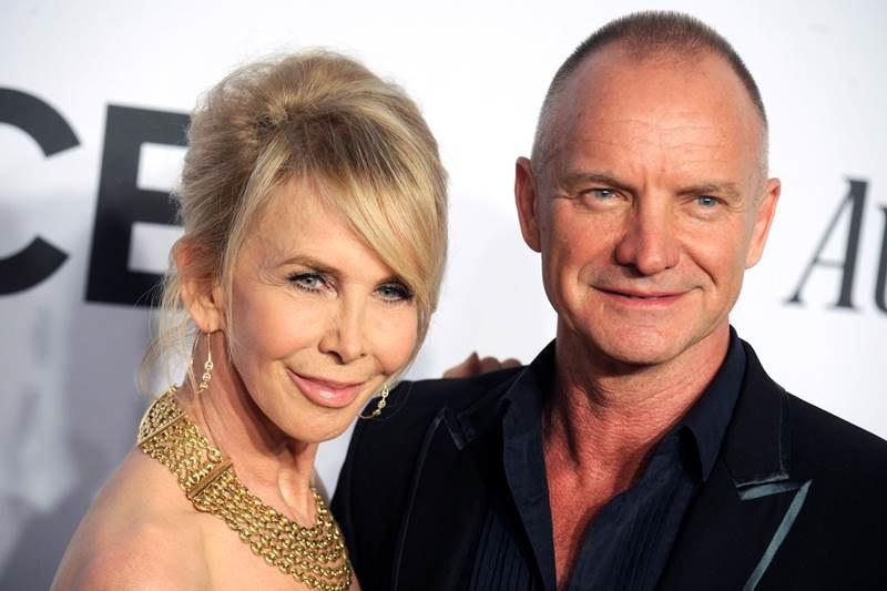 Sting wraz z żoną Trudie Styler /DPA/Dennis Van Tine/Geisler-Fotopres    /PAP