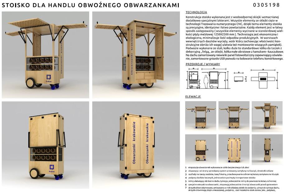 Stoisko handlu obwarzankami - projekt 1 /materiały prasowe /