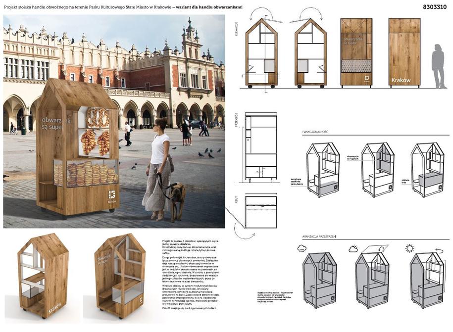 Stoisko handlu obwarzankami - projekt 3 /materiały prasowe /