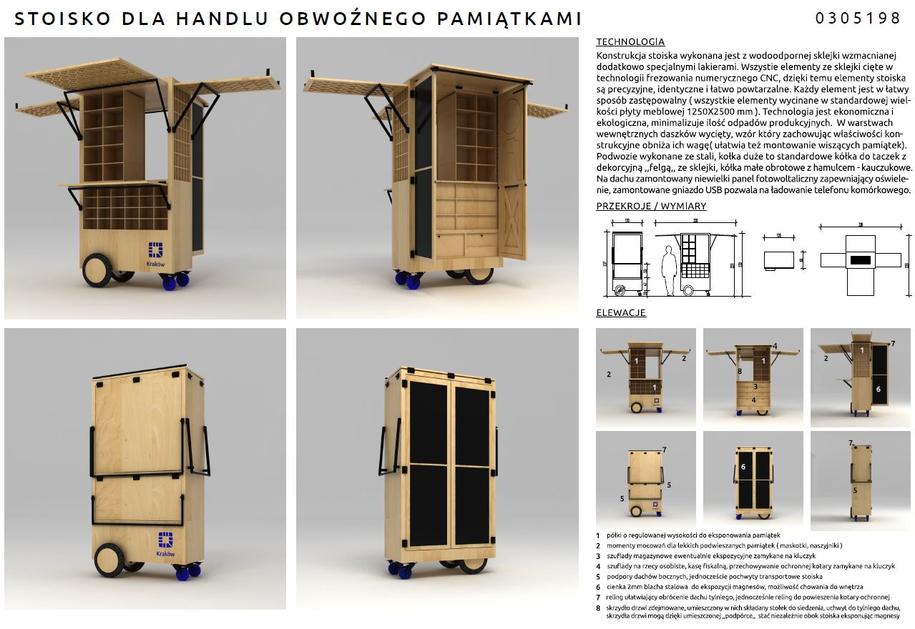 Stoisko handlu pamiątkami - projekt 1 /materiały prasowe /