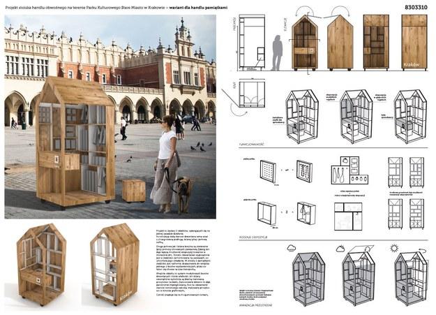 Stoisko handlu pamiątkami - projekt 3 /materiały prasowe /