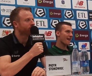 Stokowiec i Haraslin (Lechia) przed meczem z Legią. Wideo