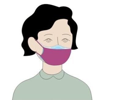 Stosowanie maski z tkaniny na maskę medyczną (chirurgiczną) poprawia skuteczność filtracji oraz dopasowanie maski do kształtu twarzy. /Medycyna Praktyczna /