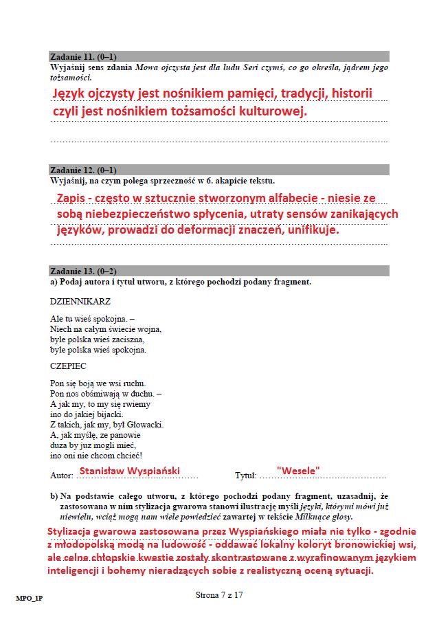 Matura 2017 Język Polski Poziom Podstawowy Arkusz I
