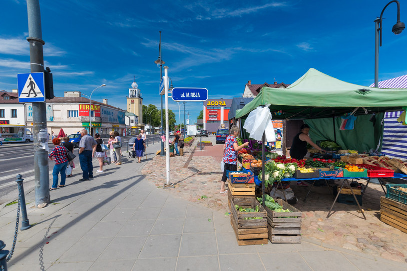 Stragany na Nowym Rynku w Zamościu /ARKADIUSZ ZIOLEK /East News
