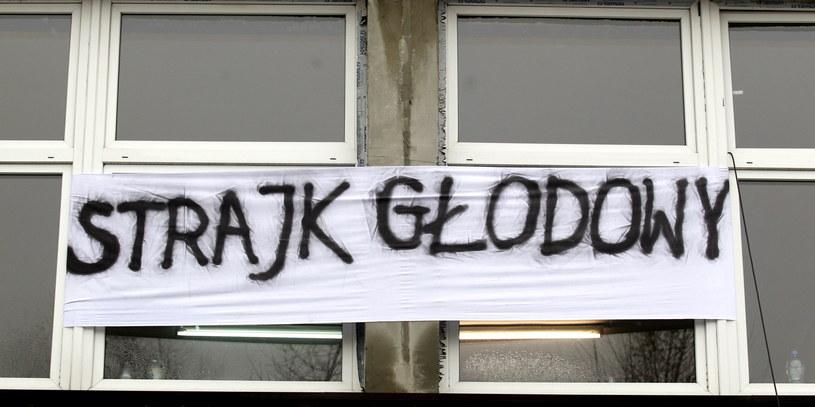 Strajk głodowy w kopalni Zofiówka JSW w Jastrzębiu Zdroju /Andrzej Grygiel /PAP