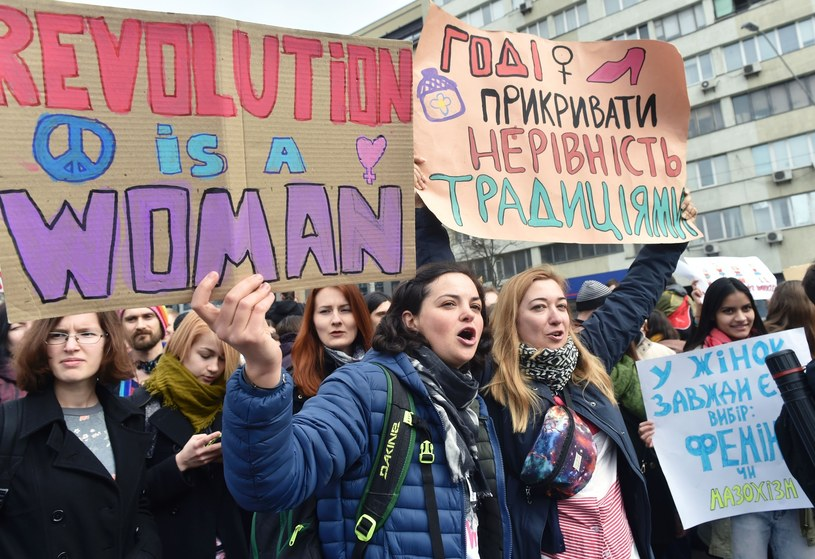 Strajk kobiet na Ukrainie /SERGEI SUPINSKY /East News