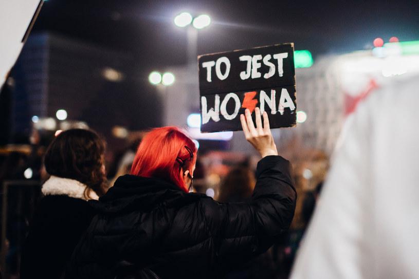 Strajk Kobiet w Warszawie /Kajko Justyna /AKPA