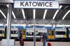 Strajk na dworcu w Katowicach