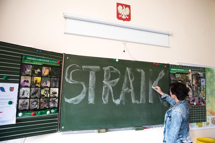 Strajk nauczycieli trwał od 8 do 27 kwietnia /Daniel Dmitriew /Agencja FORUM
