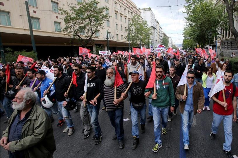 Strajk w Grecji /PANTELIS SAITAS /PAP/EPA