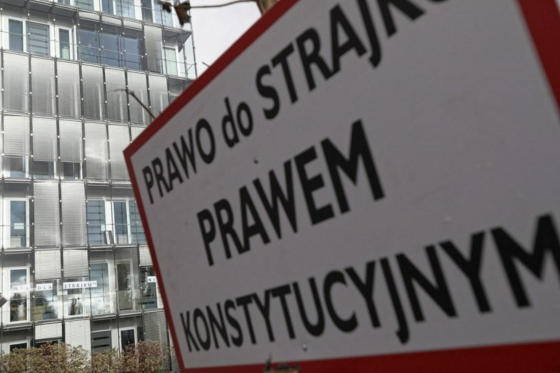 Strajk związkowców z PLL LOT / Leszek Szymański    /PAP