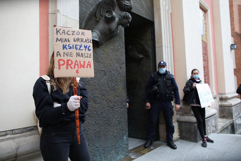 Strajki w Warszawie /fot. Andrzej Iwanczuk /Reporter