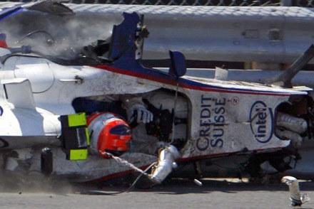Straszny wypadek podczas GP Kanady /