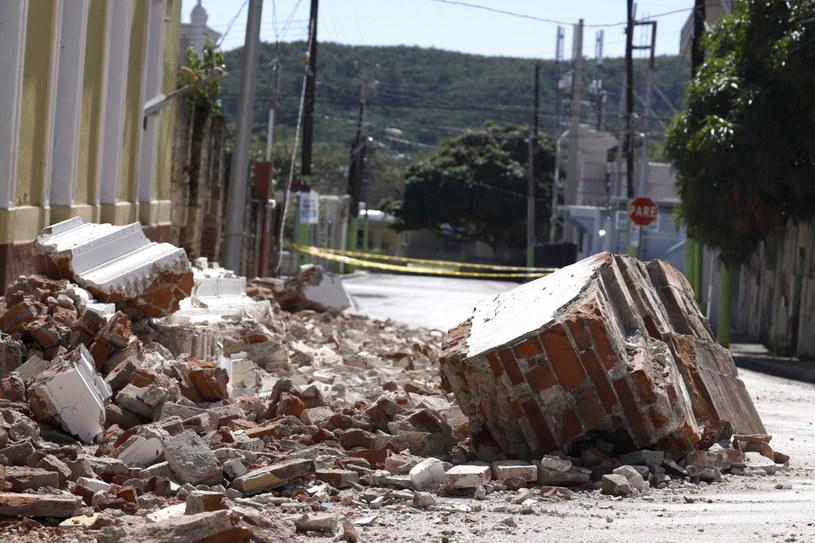 Straty po poprzednim trzęsieniu ziemi w Portoryko /Thais Llorca /PAP/EPA