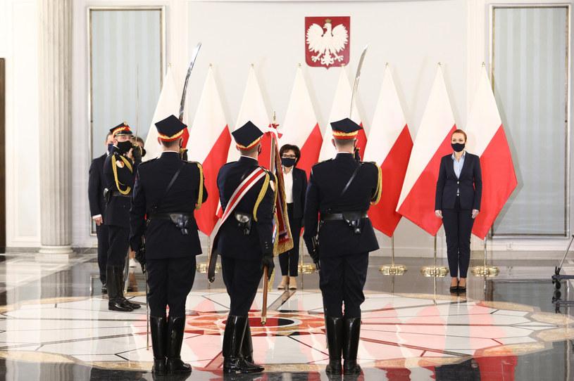 Straż Marszałkowska w mundurach galowych /Tomasz Jastrzębowski /Reporter