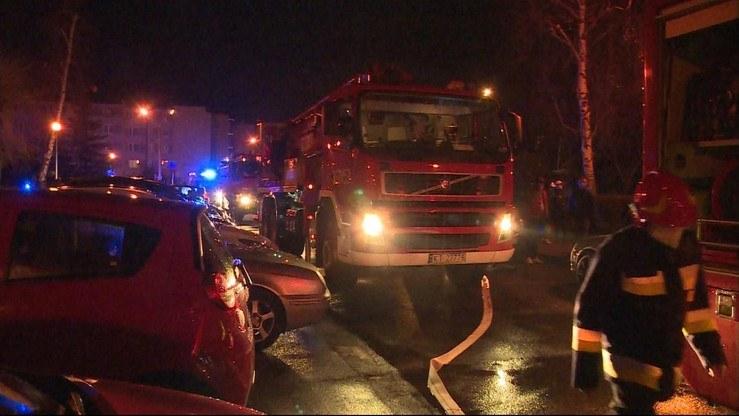 Straż pożarna na miejscu zdarzenia /Polsat News