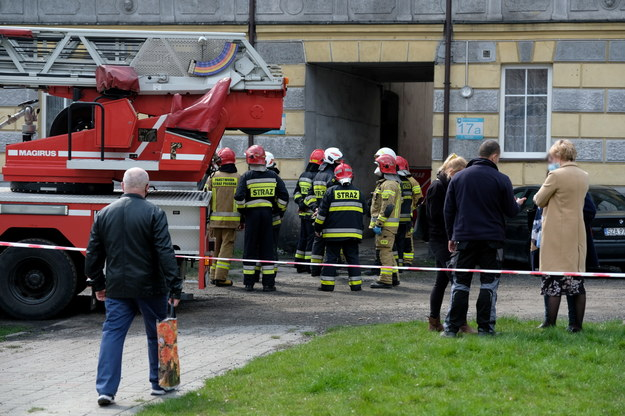 Straż pożarna na miejscu zdarzenia /Hanna Bardo /PAP
