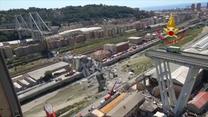 Strażacy kontynuują zabezpieczanie terenu katastrofy w Genui