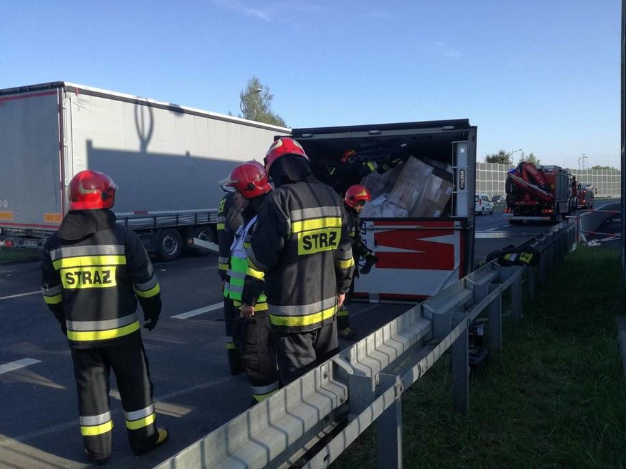 Strażacy na miejscu wypadku /112Tychy.pl /
