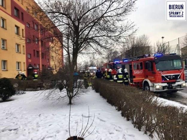 Strażacy na miejscu zdarzenia /Bieruń - Sprawy z Twojego Miasta  /Gorąca Linia RMF FM