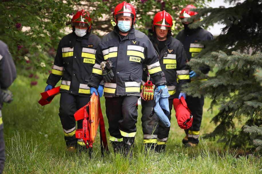 Strażacy na miejscu zdarzenia /Fot. Stalowka.NET / Jacek Rodecki /Gorąca Linia RMF FM