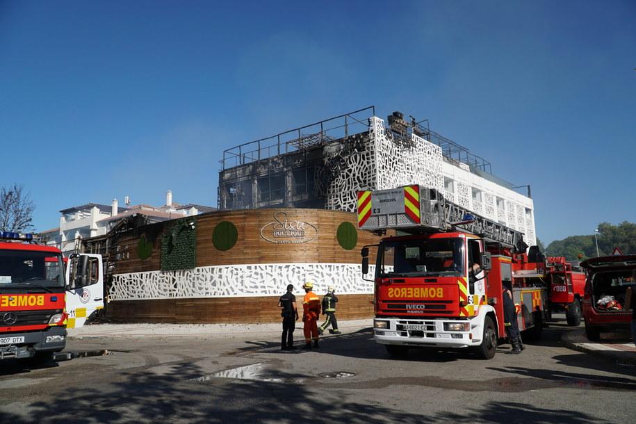 Strażacy na miejscu zdarzenia /Antonio Paz /PAP/EPA