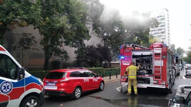 Strażacy na miejscu zdarzenia /Przemysław Mzyk /RMF FM