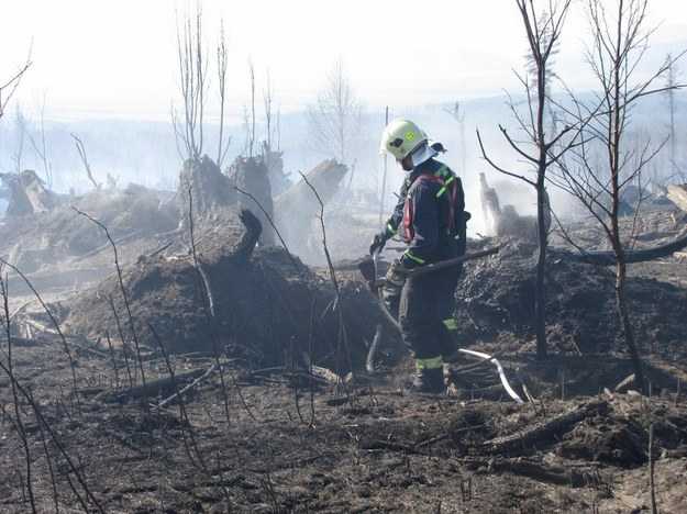 Strażacy od rana dogaszają pogorzelisko /Pałahicki Maciej /RMF FM