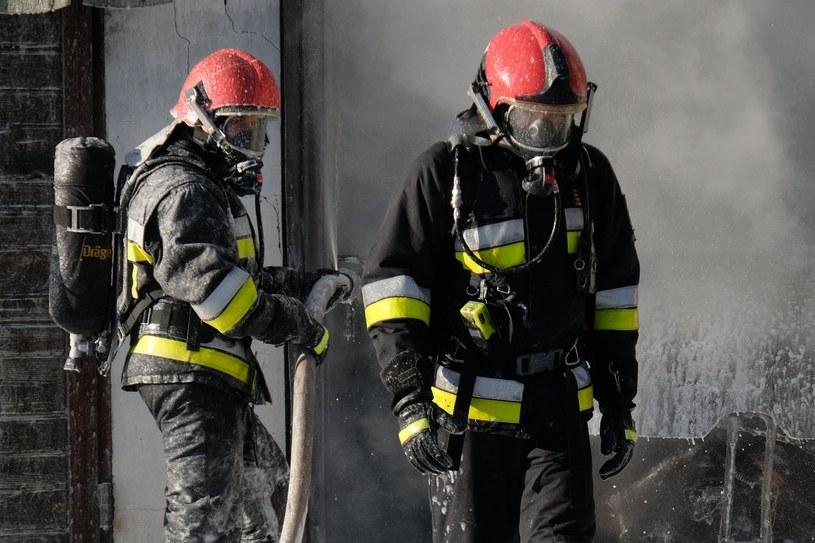 Strażacy podczas akcji gaśniczej, zdj. ilustracyjne /Łukasz Solski /East News