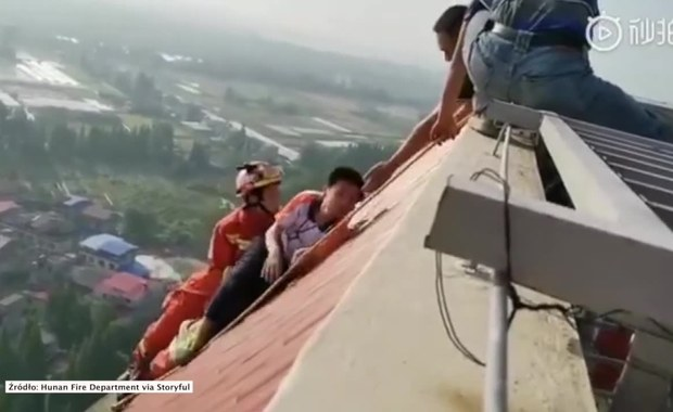 Strażacy uratowali chłopca z dachu 28-piętrowego budynku