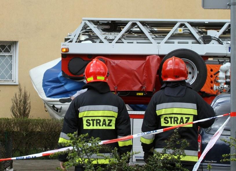 Strażacy walczą z pożarem /M. Zieliński /Agencja SE/East News