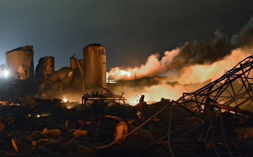 Strażacy zaginęli podczas gaszenia pożaru w West w Teksasie /LARRY W. SMITH /PAP/EPA