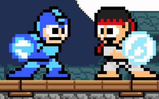 Street Fighter X Mega Man - motyw graficzny /