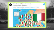 Strefa Euro 12:00. Sieciówka - przegląd mediów społecznościowych - 9.07.2021. Wideo