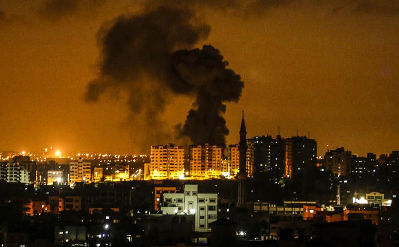 Strefa Gazy. Miejsce jednego z ataków /AFP